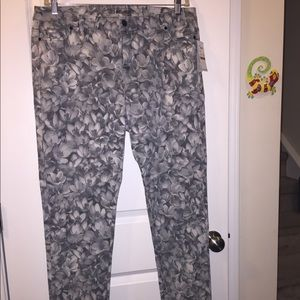 NWT MK grey floral jeans